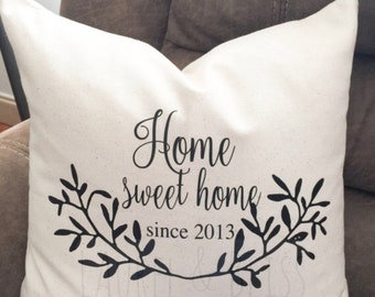 Farmhouse pillow   Custom pillow cover   Personalized Pillow   Decorative Pillows   Throw Pillow   Couch Pillow   custom  House Warming Gift