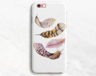iPhone 6 Case Feather Bird iPhone 7 Case Pattern iPhone 6 Plus Case Feather iPhone SE Case iPhone 7 Plus Case Samsung Galaxy S7 S6 S5 S4