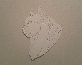Personalised Cat Portrait Pattern 4