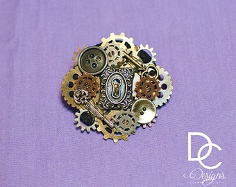 Steampunk Crafter & Lock and Key Hair clips