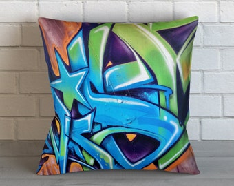 Graffiti Star Pillow