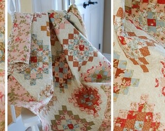 Quilt Pattern Confetti Cake by The Pattern Basket Pieced quilt
