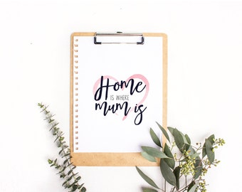 Home is Where Mum is Downloadable Print
