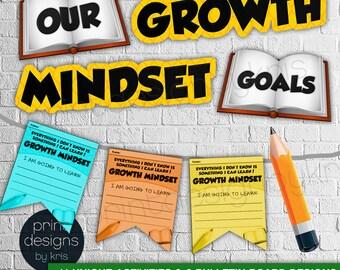 Growth Mindset Activities & Bulletin Board Materials