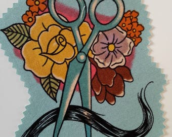 Blue Scissors Patch