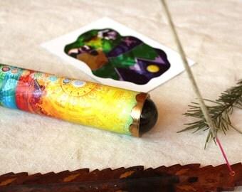 Teleidoscope Kaleidoscope. Fractal and Mandala explorer. Handmade gift. Brass kaleidoscope, Personalized gift. FREE SHIPPING. Chakras