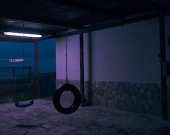 "night # 27-20 x 30 cm. Series ""at rest"""
