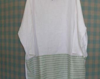 100% Lyne green-white Dress