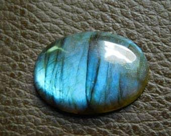 Natural Blue Labradorite Cabochon Loose Gemstone 33.00 Cts  21X29 MM Approx Oval Shape Blue Power Gemstone .