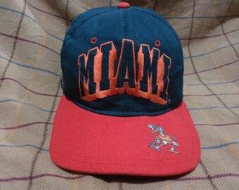 Vintage Miami Hurricane Cap Hat Vintage Cap Hat Miami Hurricanes