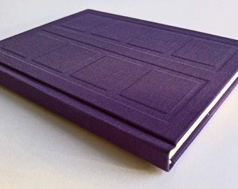 Purple/Mint Door Notebook Relief Cover