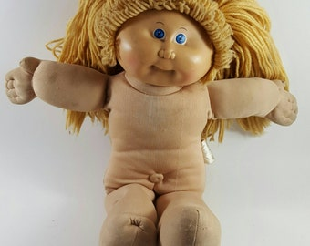 Vintage 1978 Authentic Blonde Hair Blue Eyes Cabbage Patch Kids Collectible Doll 1978-1982 (Axavier Roberts) PA-1044 - FREE SHIPPING