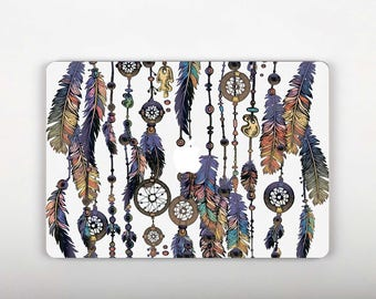 Purple Feather Macbook Sticker 13 Macbook Pro Sticker Macbook Decal 13 Sticker Macbook Decal Macbook Air Laptop Decal Macbook Decal  RS164