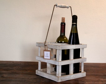 Wood Bottle Holder Etsy