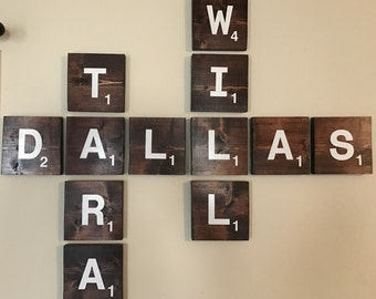 Scrabble Tile Wall Decor