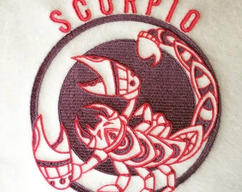Machine Embroidery Design - Scorpio Horoscope - Zodiac Collection #10