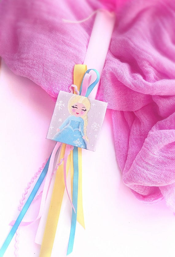 Frozen inspired easter candle lambada for girl with like this item negle