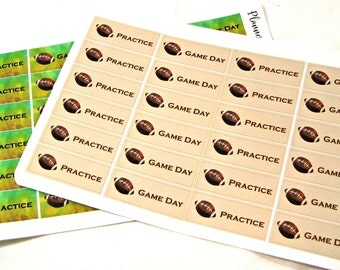 Planner Stickers - Football Stickers - Happy Planner Stickers - Day Designer - Functional Stickers - Game Day Stickers - Practice