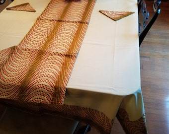 Kitenge Table Cloth with Runner and Napkins