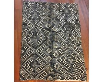 Vintage Vietnamese Tribal  Hmong Thai Handwoven cotton Blanket