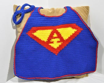 Super Hero Cape with Custom Letter and Mask