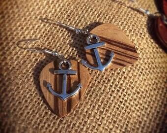 Zebrano earrings