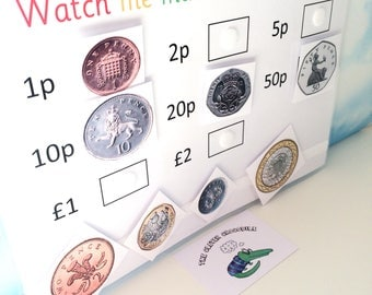 Learning coins, Money, KS1, Matching game, Teaching resource, Visual learners, British coins, Early learning, Children's development