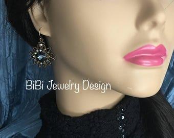"""Swarovski Graphite Earrings - """"Eclipse Earrings"""""""