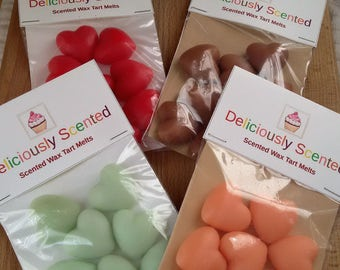 Scented WAX MELTS - Heart Shaped, You Choose Scent, tart melt, wax tart, orange tart, scented melts, tarts