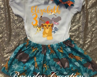 Lion Guard tutu, Lion Guard Birthday Outfit, Lion Guard Birthday Shirt, Lion Guard Shirt, Lion Guard personalized Birthday Shirt.