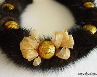 Mahogany Mink Fur Necklace