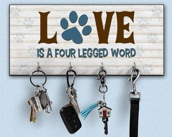 Leash holder, Leash rack, key holders, pet leash holder, realtor, personalized key holder, personalized key rack, family key holder, key hol