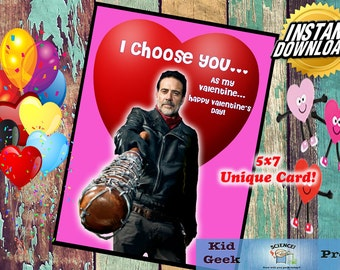 TWD Walking Dead Negan Valentineu0027s Day Card!