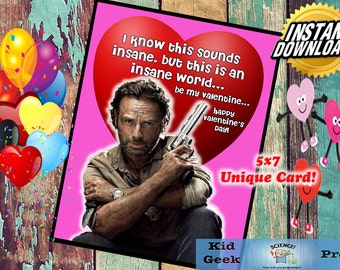 TWD The Walking Dead Rick Valentineu0027s Day Card!