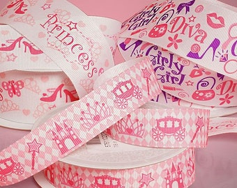 Princess Ribbon-Castle Carousel Ribbon- Diva Girl Ribbon