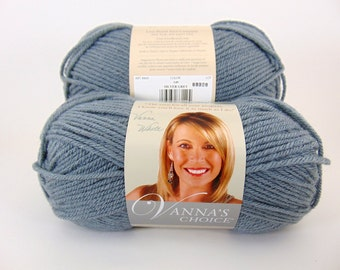 Silver Gray Lion Brand Vanna's Choice Yarn - 1015