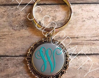 Filigree Disc Keychain