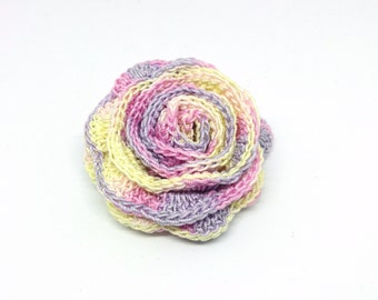 Flower, rose, Barrette, crochet