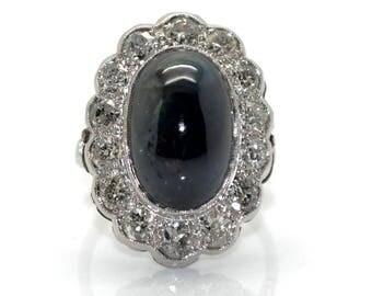 Pompadour ring Sapphire art deco