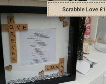Scrabble Love Personalised frame