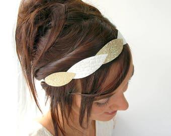 Wedding hair accessory, bridal hair accessory, gold leaf headpiece, bridal headpiece, bridal tiara, bridal headband, wedding headband, gold