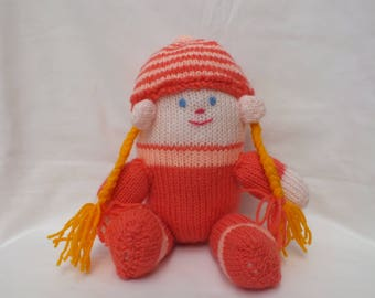 Hand Knitted Humpty Dumpty's Sister, Stuffed Soft Toys and Dolls,