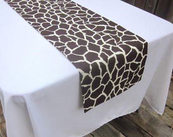Giraffe Print Table Runner - Wedding, Birthday, Graduation, Bridal Shower, Baby Shower,Safari, Zoo,Wild Thing, Jungle,