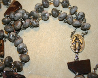 Coral and stone rosary