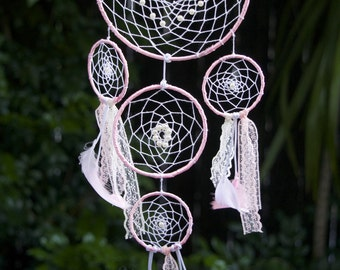 Dream Catcher; Pink ; Nursery  or Bedroom wall Hanging; Gift