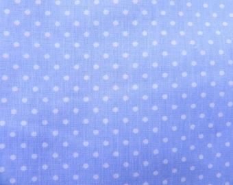 Fabric points cotton light blue 2 mm cotton