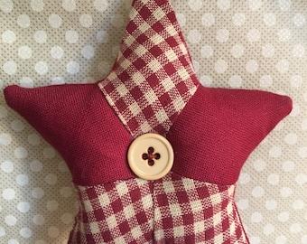 Sewn Christmas Star Ornaments
