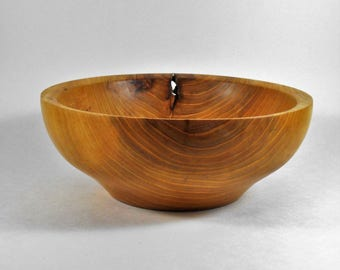 hand turned bowl of elm