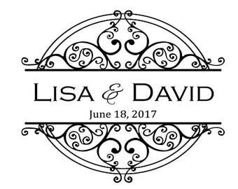 Lovely Double Circle Flourish Wedding Monogram/Logo/High Quality Digital/Custom/Elegant/DIY/Romantic