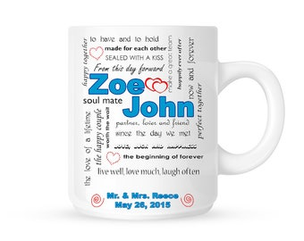 Custom Wedding Gift // Coffee Mug // Personalized Wedding mug // Gift for Wedding// Custom Coffee mug gift